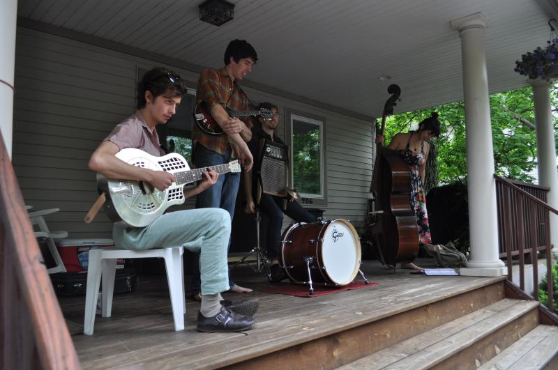 The Appleseed Collective performs during the Water Hill Music Festical in Ann Arbor
