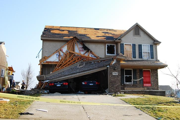 Damage from the tornado that hit Dexter on March 15.