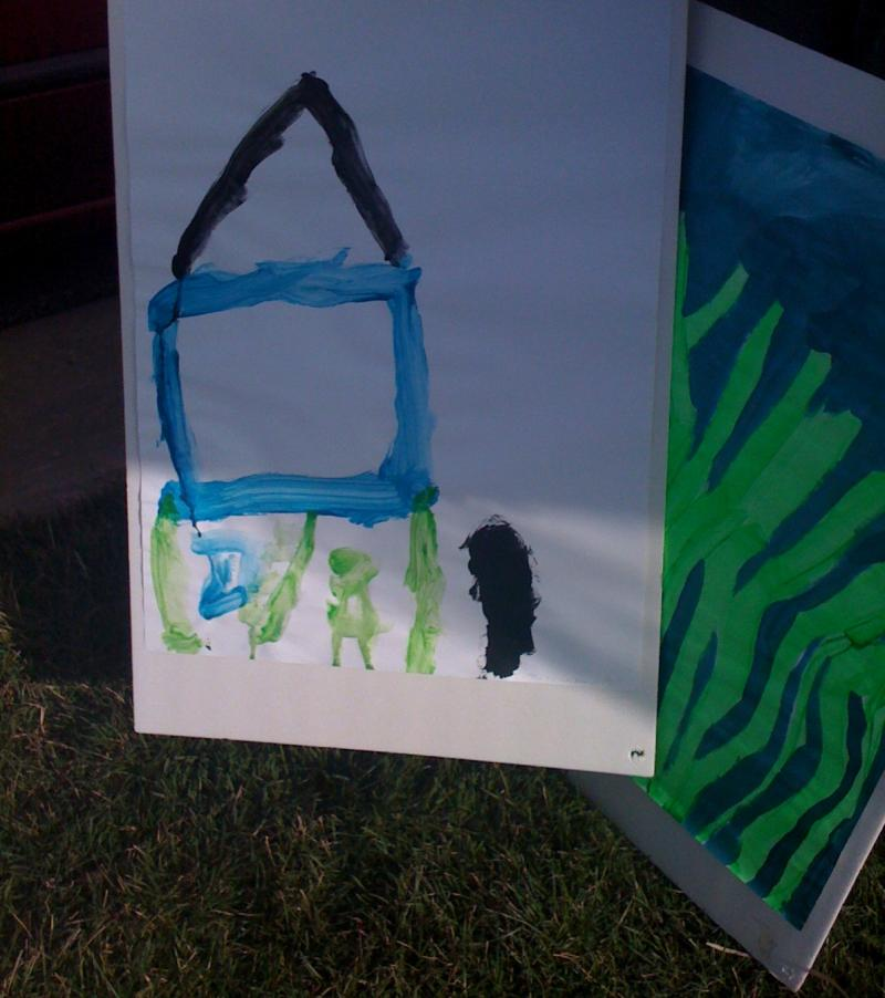 Artist Christine Lux says she's noticing more kids paint houses with basements post-tornado