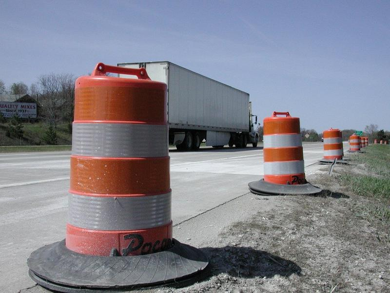 Road construction along I94 in Jackson County, Michigan (file photo)