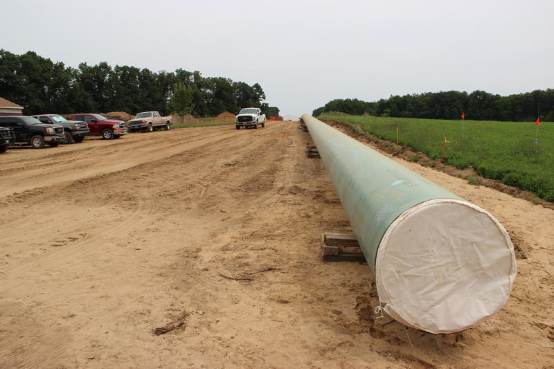 Part of the new line 6B pipeline in central Michigan.