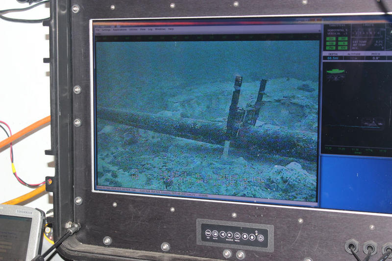 Screen showing Line 5 on the bottom of the Straits of Mackinac.