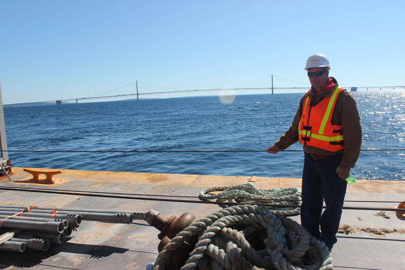 Tom Prew, region engineer for Enbridge, oversees maintenance on the line.
