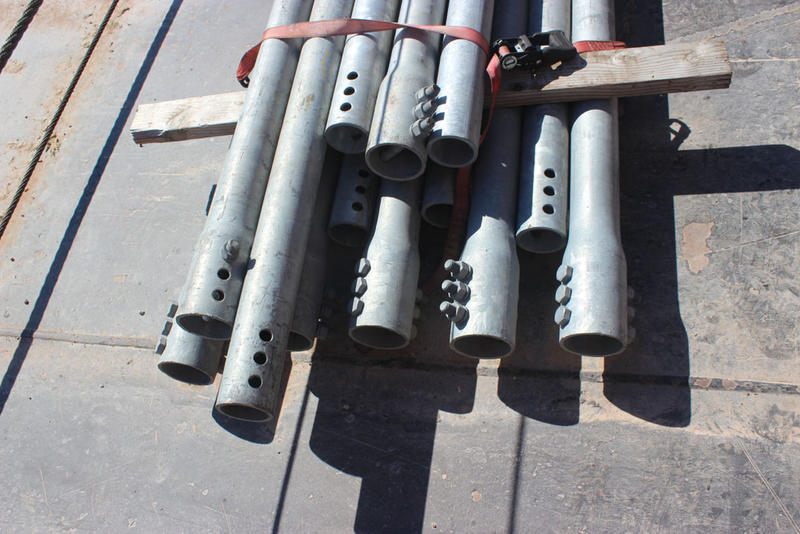 Pipes used on the underwater supports.