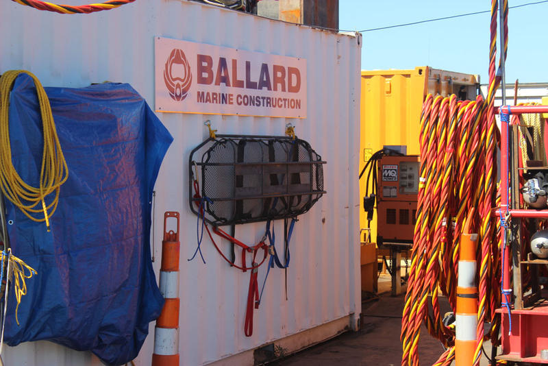Ballard Marine Construction is the contractor for this work on Line 5.