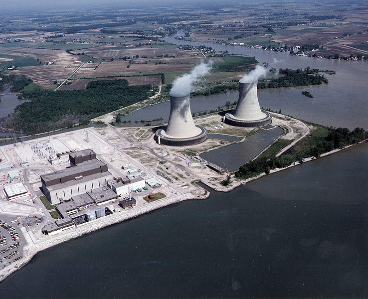 The Fermi 2 nuclear power plant on Lake Erie near Monroe, Michigan.