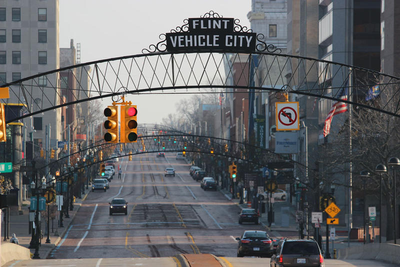 Downtown Flint.