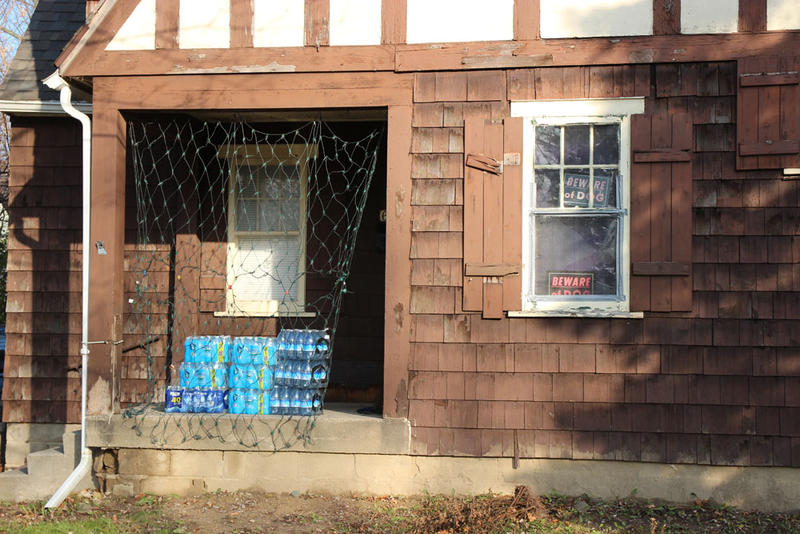 Many Flint residents still rely on bottled water.