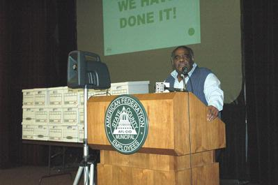 AFSCME Council 25 President Al Garrett, at a recent rally to overturn Public Act 4