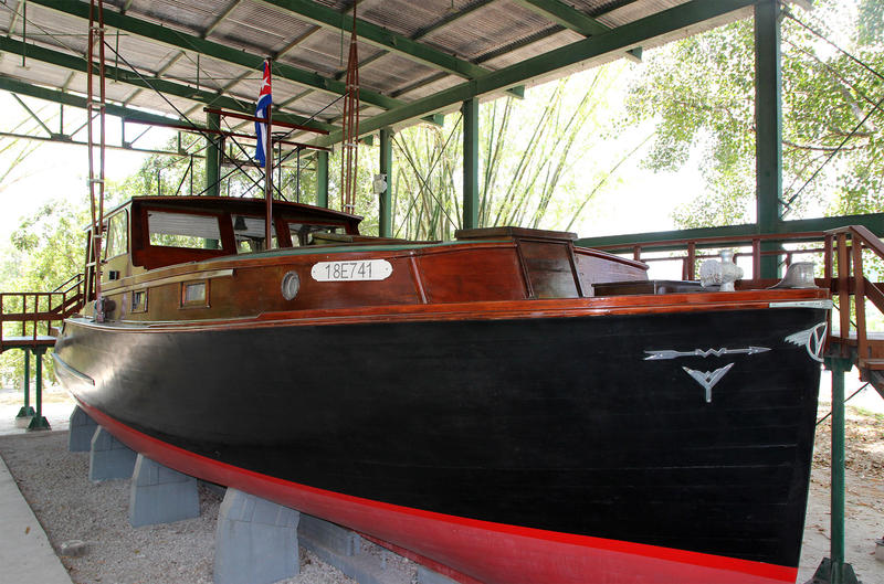 Hemingway's 38-foot fishing boat named Pilar.