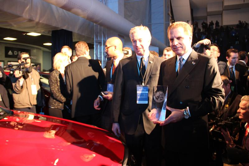 The team of Cadillac ATS (left - GM executive and chief engineer David Leone).