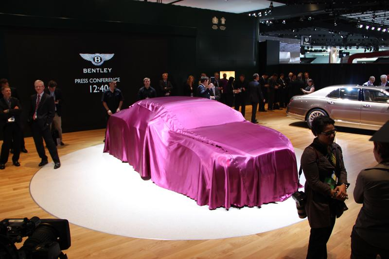 Bentley prepares to unveil its new Continental GT Speed Convertible.