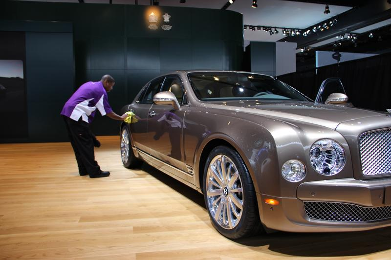 Carlos Bryant has been keeping the Bentleys dust and fingerprint free at the Detroit auto show for more than a decade.