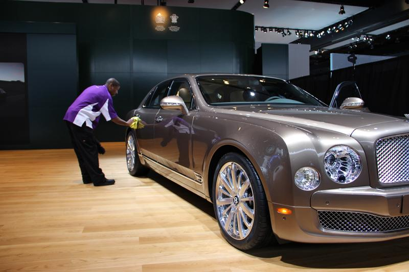 Keeping the prints and dust off a Bentley.