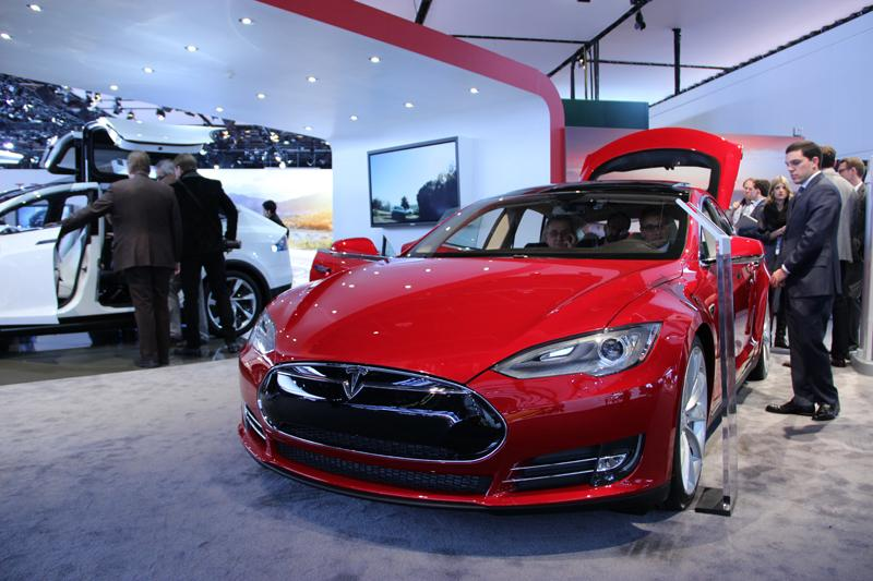 The 2012 Motor Trend Car of the Year, the Tesla Model S.