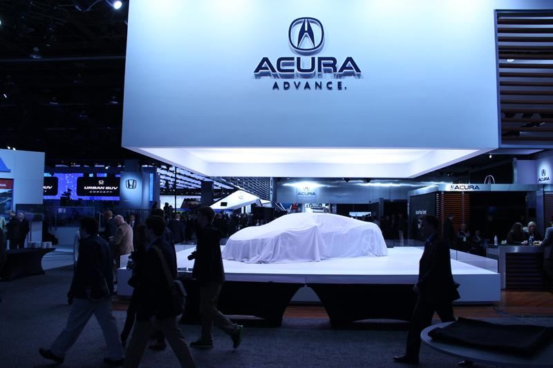 Acura prepares to unveil a new model.