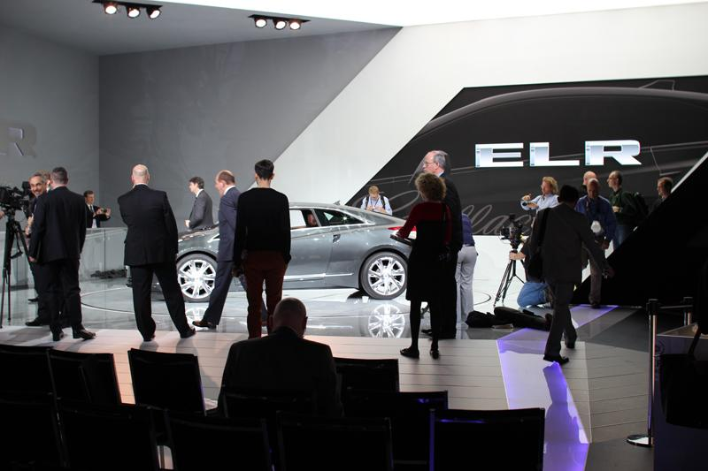 After the Cadillac press conference where an all electric Cadillac was unveiled.