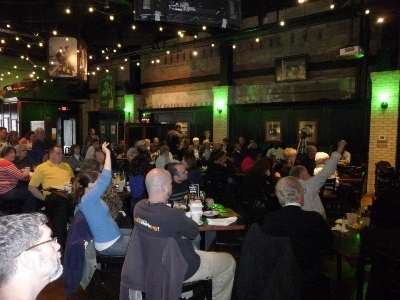 The audience at Blackstone's Pub & Grill in downtown Flint.