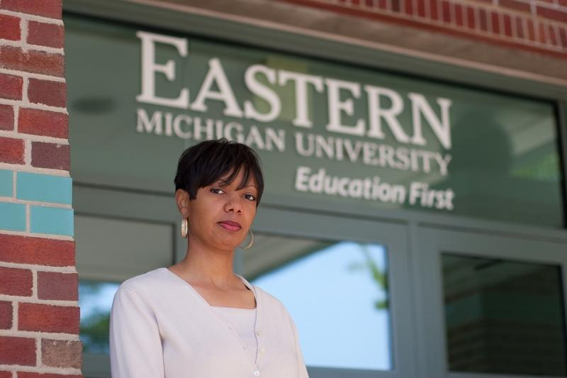 Julea Ward is suing EMU for being expelled from the school's master's program in counseling.
