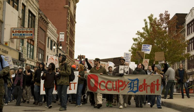 From an Occupy Detroit rally last year.