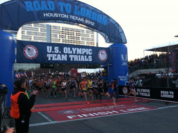 Starting line at the Olympic Trials