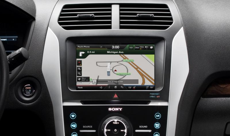 The MyFordTouch display in a Ford vehicle.
