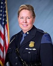 Colonel Kriste Etue, Director of the Michigan State Police