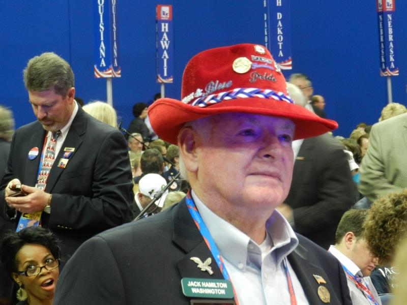 Having a stylish hat is part of conventioneering.