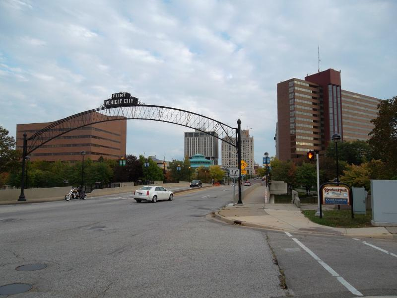 Downtown Flint, just a short walk to the U of M-Flint campus and restaurants