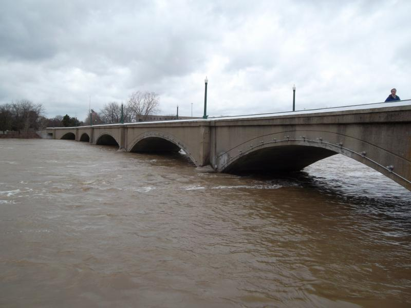 The Grand River is expected to rise until early next week.