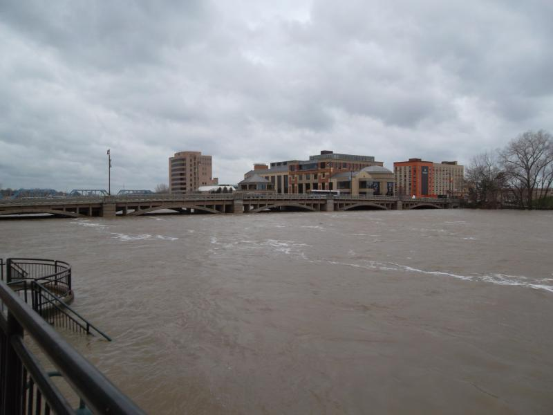 The Grand River in Grand Rapids pictured Friday, April 19th 2013.