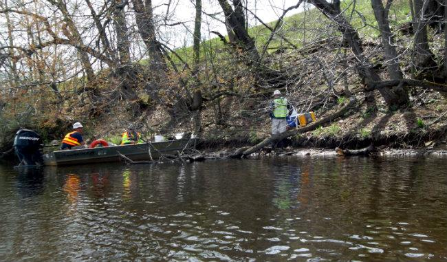 Enbridge workers are still present on the water three years after the spill.