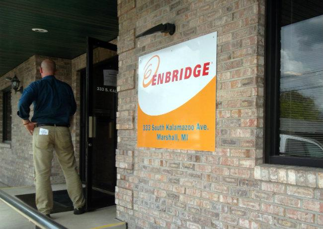 Enbridge's headquarters in Marshall, Michigan.
