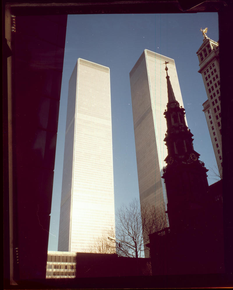 Photo of the World Trade Center obtained from Yamasaki & Associates.