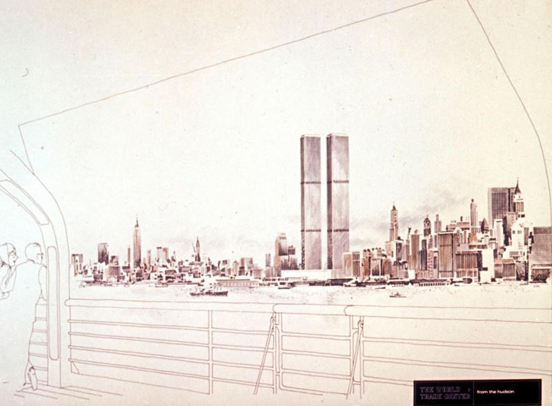 Drawing of the World Trade Center obtained from Yamasaki & Associates.