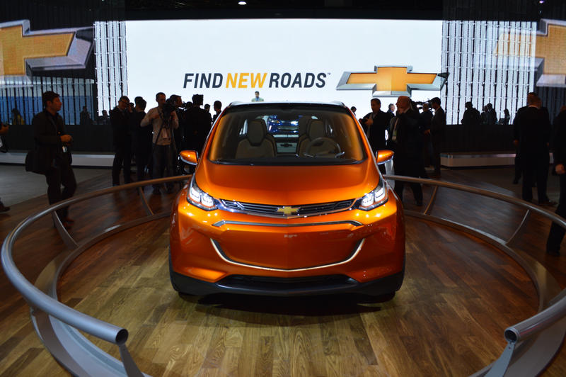The Chevy Bolt is a General Motors concept car that runs entirely on an electric engine.