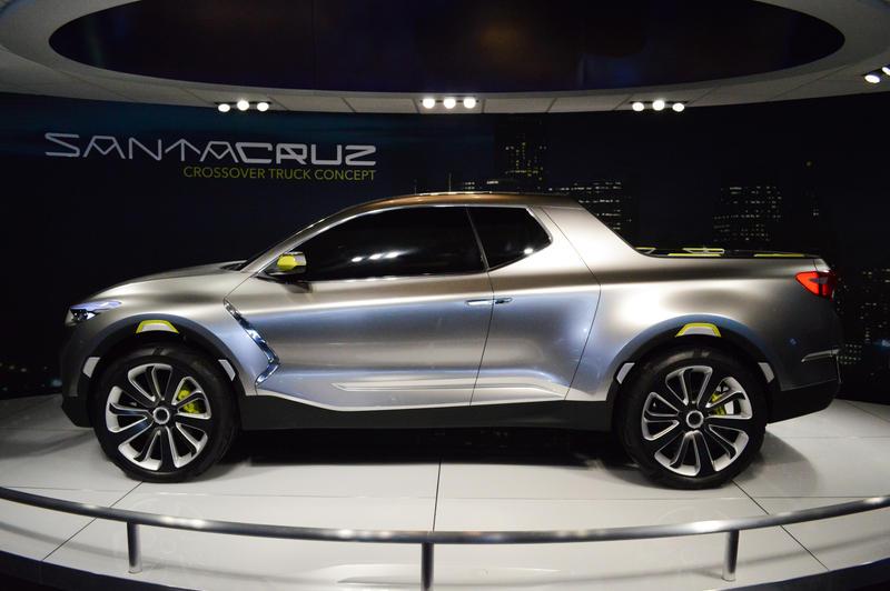 The Santa Cruz is Hyundai's crossover vehicle.