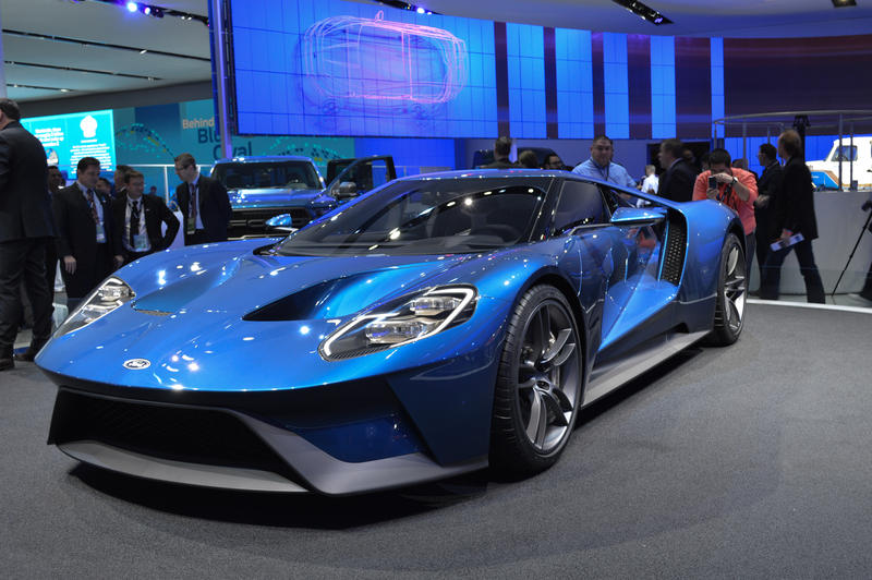 Ford's GT supercar sports an Ecoboost V6 engine and is built for speed.