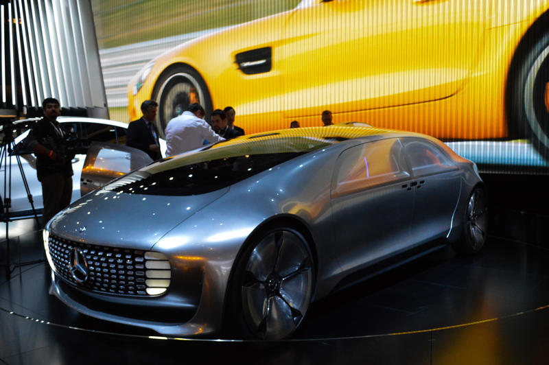 The Mercedes-Benz F015 Luxury in Motion concept car is an autonomous vehicle.