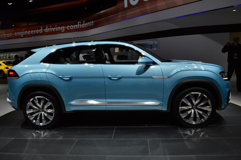 The Volkswagen Cross Coupe GTE Concept car is designed to be a first preview of an upcoming crossover.