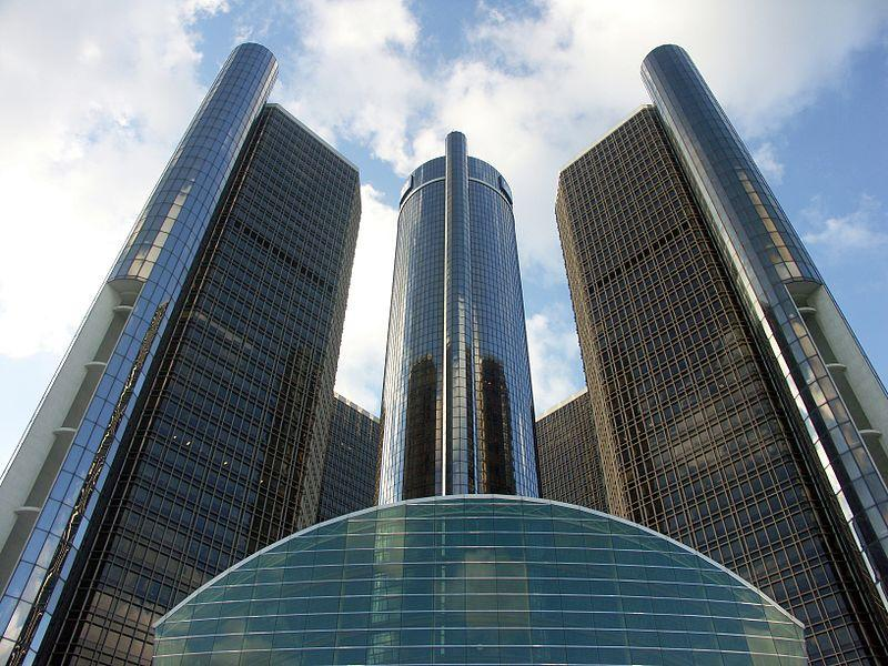 The Renaissance Center, World Headquarters of General Motors.