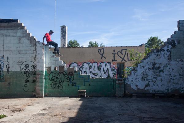 Mixing skating and art.