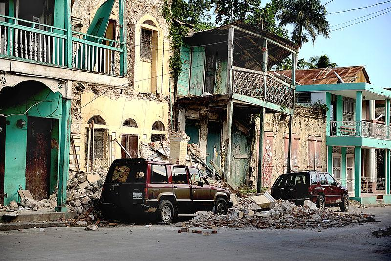 Destroyed buildings in Jacmel, Haiti after an earthquake hit the region on Jan. 12, 2010