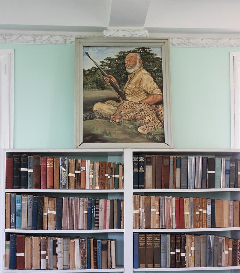 A portrait of Ernest Hemingway