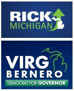 Logos for Michigan Gubernatorial Candidates