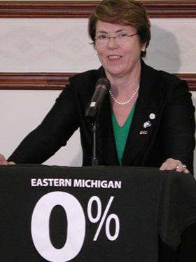 Eastern Michigan University (EMU) President, Susan Martin