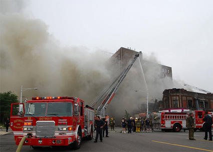 The Detroit Fire Department responds to a fire in 2010. Filmmakers embedded with the DFD for most of 2011.