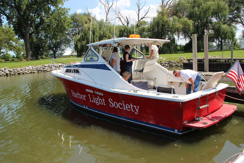 This boat is used by the Lake Erie Waterkeeper Association and the Harbor Light Society.