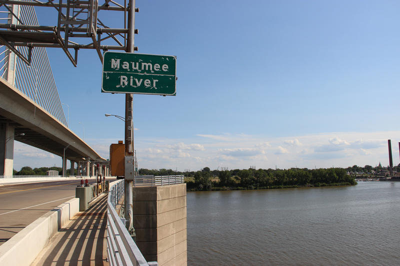 The Maumee River brings massive amounts of water into Lake Erie.