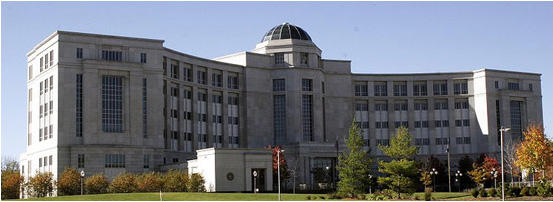 The Michgian Hall of Justice, home of the Michigan Supreme Court.
